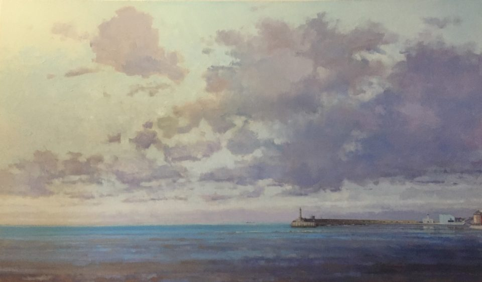 Margate Harbour - Purple Clouds 109cm x 63.5cm