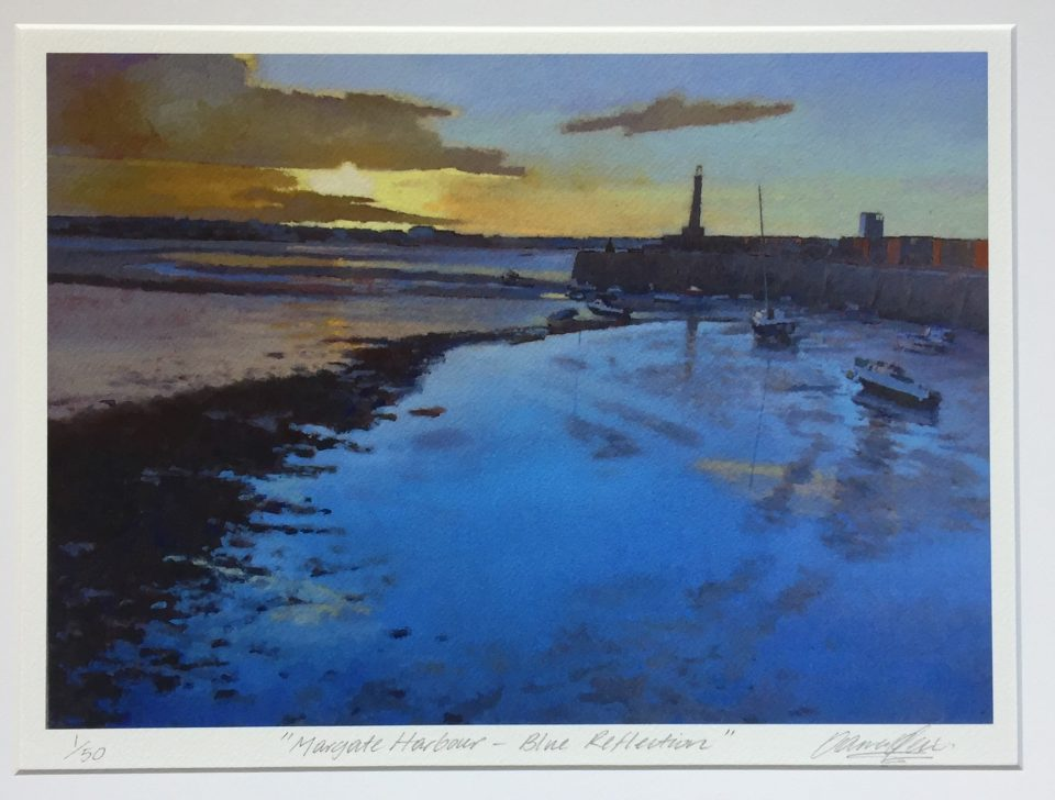 margate-harbour-blue-reflection-print-36-7cm-x-26cm