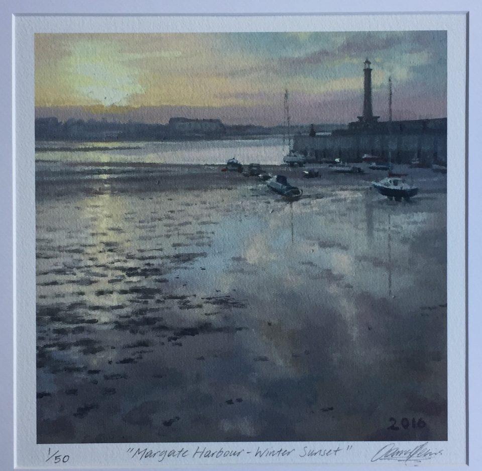 Margate Harbour – Winter Sunset