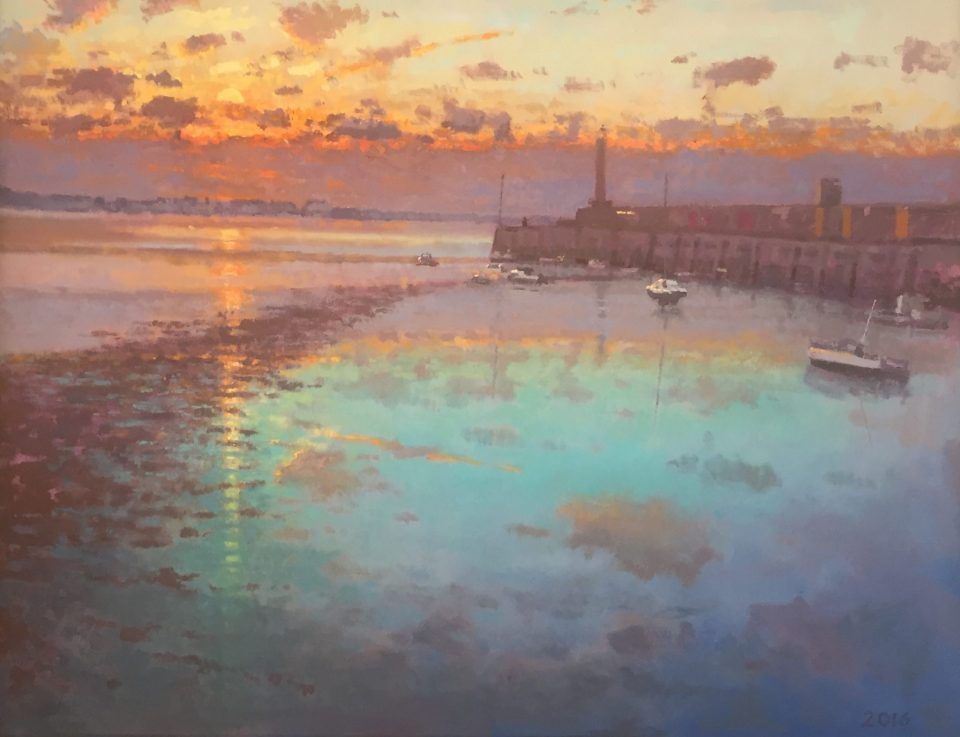 Margate Harbour – Winter Reflections