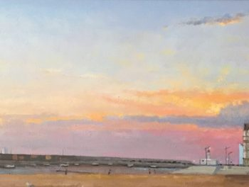 Sunset over Margate Harbour